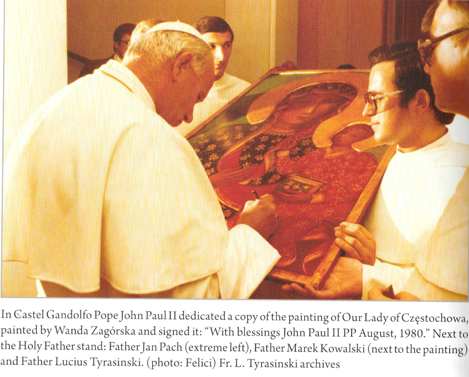 Signing the Icon of Our Lady of Czestochowa by John Paul II - August, 1980